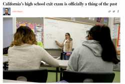 california high school exit exam California created the test to improve student achievement in high schools the test helps to ensure that students graduate from high school with grade level skills in reading, writing, and math students first take this test in grade ten.