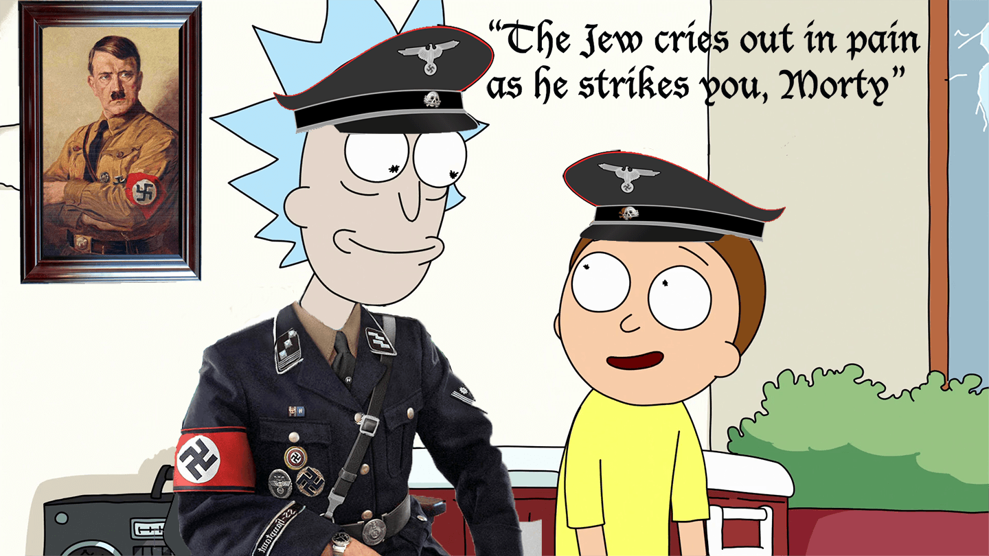 The jew cries out in pain as he strikes you