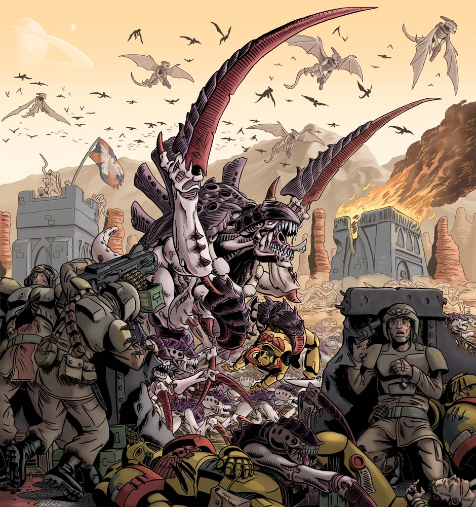 Image result for tyranids IG suicide