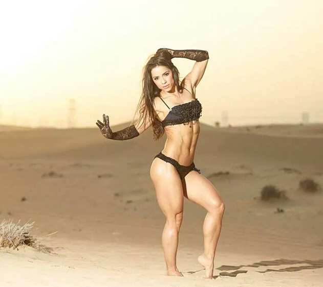 Denise masino a girl her dog and a bone female bodybuilder for