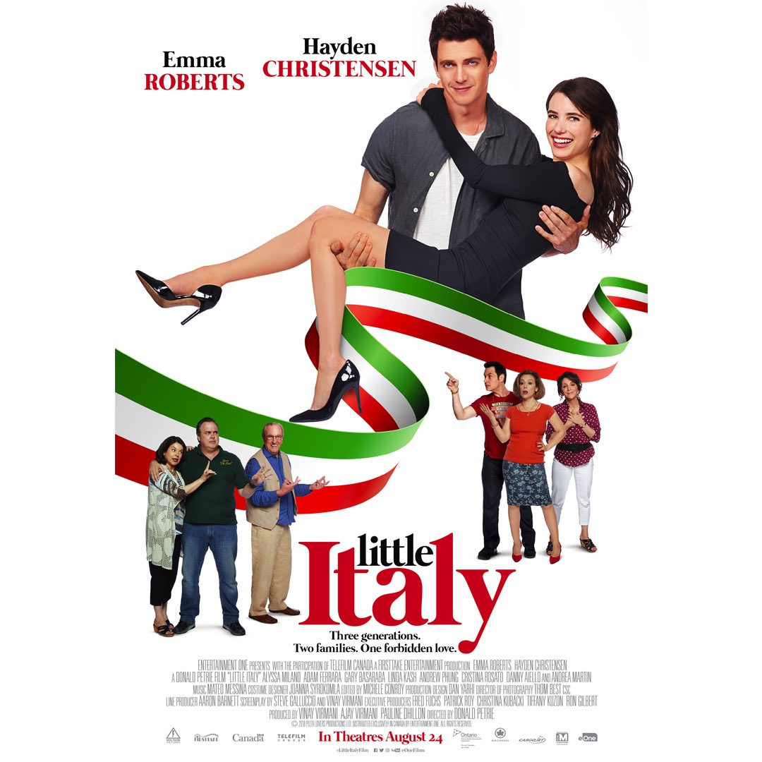 August 24: 'Little Italy' film starring Emma Roberts